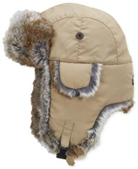 Woolrich Water Resistant Supplex Nylon Trapper Hat Khaki