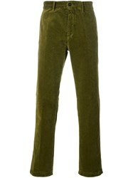 Massimo Alba Straight Trousers Green