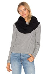 Plush Fleece Lined Chunky Knit Scarf Black