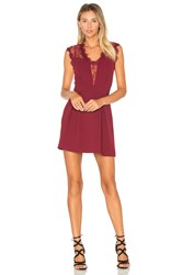 Bcbgeneration Sheer Fit And Flare Dress Burgundy