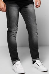 Boohoo Fit Charcoal Jeans With Sandblasting Charcoal