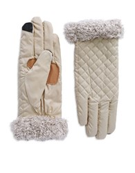 Echo Fleece Trimmed Gloves Beige