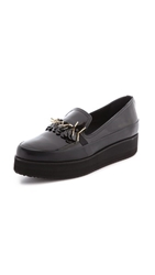 Mother Of Pearl Kennedy Patent Slip On Sneakers Black