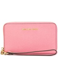 Michael Michael Kors 'Jet Set Travel' Smartphone Wallet Pink And Purple