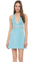 Clover Canyon Solids Halter Dress Seafoam