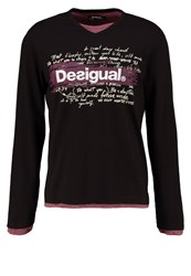 Desigual Long Sleeved Top Black
