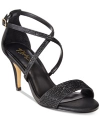 Thalia Sodi Dulce Rhinestone Strappy Evening Sandals Only At Macy's Women's Shoes Black