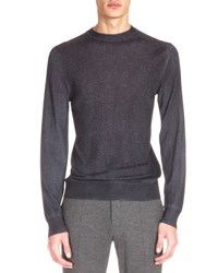 Berluti Cashmere Blend Crewneck Sweater Charcoal Grey
