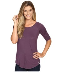 Columbia Lumianation Elbow Sleeve Shirt Dusty Purple Women's Short Sleeve Pullover