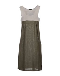Have A Nice Day Short Dresses Military Green