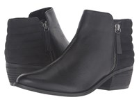 Dune Petrie Black Leather Women's Pull On Boots