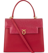 Launer Traviata Handbag Dark Pink