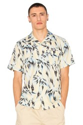 Stussy Bamboo Print Button Down Yellow