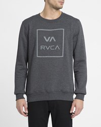 Rvca Grey Va All The Way Round Neck Sweatshirt