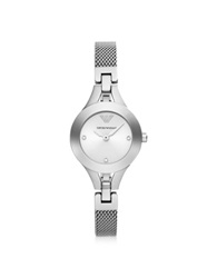 Emporio Armani Classic Sleek Stainless Steel Women's Watch Silver
