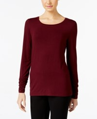 Alfani Long Sleeve Ruched Top Only At Macy's Marooned