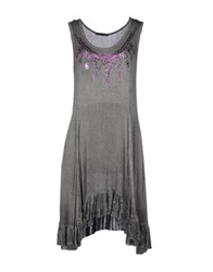 Angela Mele Milano Knee Length Dresses Dove Grey