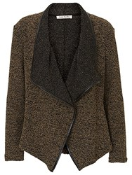 Betty Barclay Knitted Waterfall Cardigan Black Green