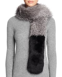 Surell Fox Fur Stole Scarf 100 Bloomingdale's Exclusive Blue Frost Blue