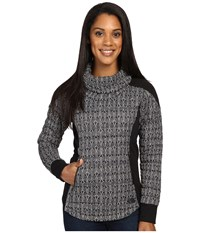 The North Face Ma Thermoball Pullover Tnf Black Lace Print Women's Long Sleeve Pullover Gray