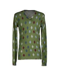 Szen Knitwear Jumpers Men Military Green