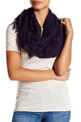 14Th And Union Frayed Knit Infinity Scarf Purple