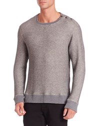 Sol Angeles Arctic Stripe Long Sleeve Henley Tee Graphite