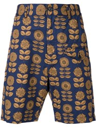 Engineered Garments Flower Print Shorts Blue