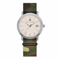 Huckle And Harper Swiss Watch Classic Nato Camo Black Green Brown