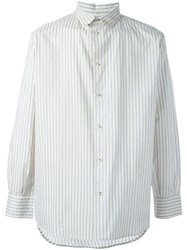 Geoffrey B. Small Striped Shirt Nude And Neutrals