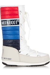 Moon Boot Quilted Shell And Faux Leather Boots