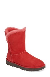 Uggr Women's Ugg Classic Cuff Short Boot Lipstick Red Suede