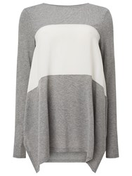 Phase Eight Caroline Colour Block Top Grey Ivory