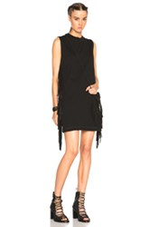 Mcq By Alexander Mcqueen Mcq Alexander Mcqueen Fringe Sleeve Dress In Black