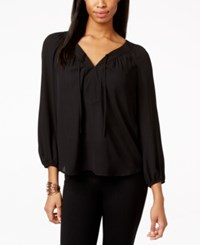 Inc International Concepts V Neck Peasant Blouse Only At Macy's