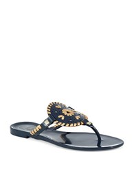Jack Rogers Georgica Jelly Thong Sandals Blue