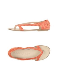 Rosamunda Thong Sandals Orange
