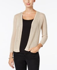 Charter Club Open Front Pointelle Cardigan Only At Macy's Flax