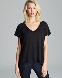 Velvet By Graham And Spencer Tee Darcy Side Slit Black