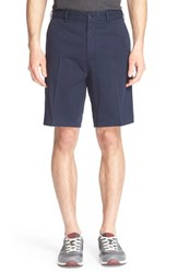 Men's Paul And Shark Flat Front Stretch Cotton Shorts Navy