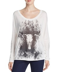 Haute Hippie Longhorn Dolman Tee Compare At 155 Ivory Black