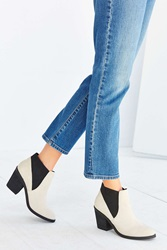 Urban Outfitters Elastic Ankle Boot Ivory