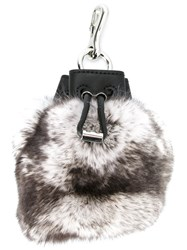 Alexander Wang 'Roxy' Bag Keyring White