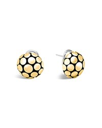 John Hardy 18K Gold And Sterling Silver Dot Large Ball Earrings Silver Gold
