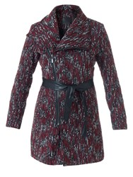 Lavand Textured Winter Coat Multi Coloured