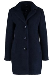 Comma Classic Coat Navy Dark Blue