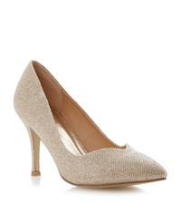 Untold Brookell Sweetheart Court Shoe Gold