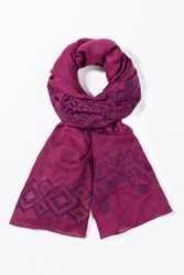 Desigual Rectangle Foulard Purple