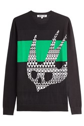 Mcq By Alexander Mcqueen Wool Pullover With Print Black