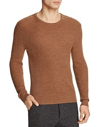 Todd Snyder Wool Waffle Stitch Sweater Camel